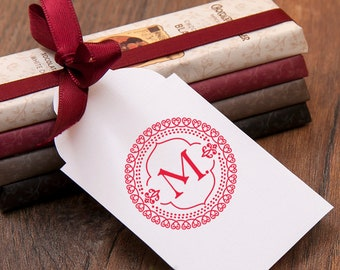 LETTER M STAMP - Gift Stamp M  - Monogram M Stamp - Initial M Gift - M Rubber Stamp