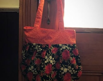 Shoulder bag tote - reversible - Bold Floral