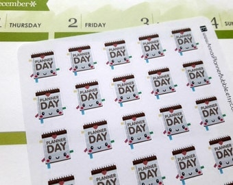 Kawaii Planner Day planner stickers for Erin Condren Life Planner, MAMBI Happy Planner, Filofax etc.