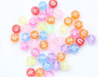letter beads alphabet beads letter 7mm beads childrens beads acrylic beads plastic beads plastic letters acrylic letters beads
