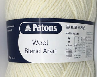 Patons Wool Blend Aran / 10ply 100g wool Acrylic blend Yarn