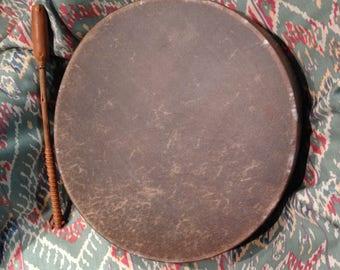 "15"" Buffalo Hide Hand Drum- Native American Made"