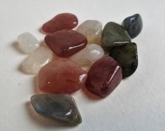 Shimmer Bundle- Polished Labradorite, Moonstone and Red Aventurine