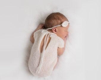 Mohair Newborn Onesie - Knit Prop