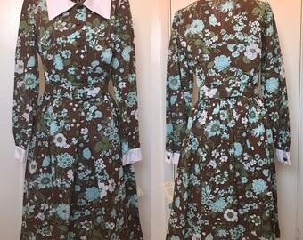 1960s NWT Dixie Deb Shirtdress S