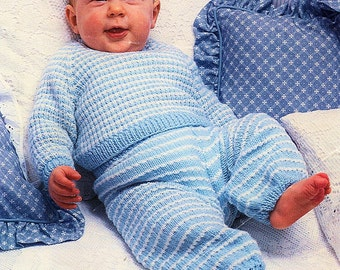 Baby Sweater And Trousers, Knitting Pattern. PDF Instant Download.