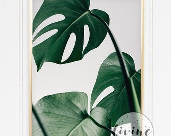 Leaf Plant Urban Jungle Green Botanic Poster Instant Download Printable