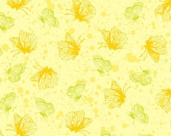 Purple Passion 4105-61353-4 Yellow Butterflies from Exclusively Quilters