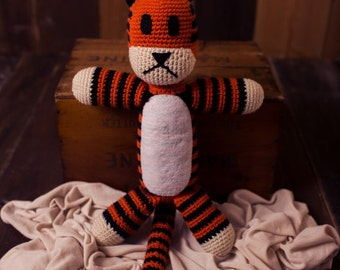 Handmade Crochet Hobbes *Made to Order*