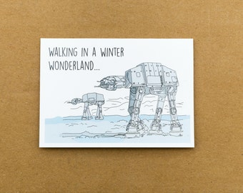 AT-AT Star Wars Illustrated Christmas Card