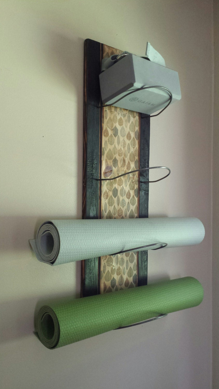 4 Tier Yoga Mat Holder Wall Mounted Yoga Supplies Yoga