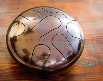 Handmade Handpan Drum Tongue 8 Tones STEEL  Hank Music Instrument