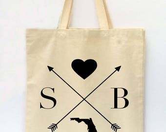 Custom Tote Bag, State Tote Bag, Reusable Grocery Bag, Market Tote Bag, Teachers Gift, Canvas Tote Bag, Printed Tote Bag, Shopping Bag
