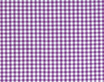 "Purple Gingham, 1/8"" purple and white checked fabric, Robert Kaufman Fabric, 100% cotton fabric"