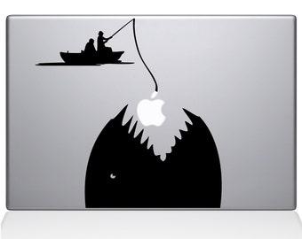 Gone Fishing Macbook Decal For Macbook Apple Laptop Sticker