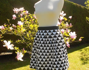 Pleated flat black and white - size 38