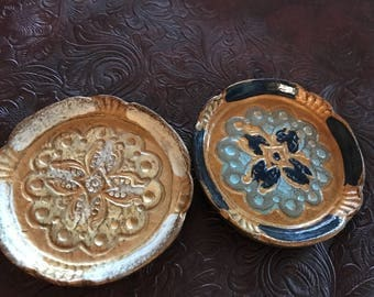 Pair of Italian Wooden Coasters