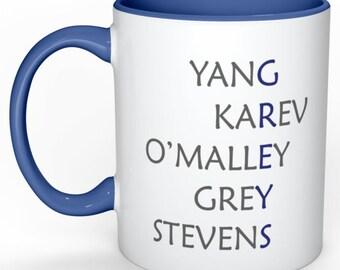 Greys Anatomy Original 5 Mug with heartbeat