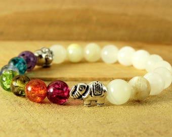 Chakra Bracelet Gemstone Jewelry Yoga Bracelet Reiki Jewelry Meditation Bracelet  Onyx Bracelet Tibetan Jewelry Buddha Bracelet Energy
