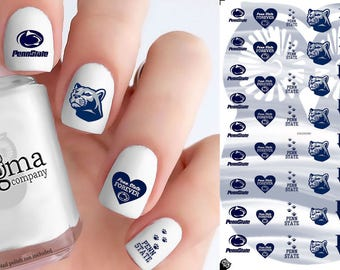 Penn State Nittany Lions Nail Decals (Set of 50)