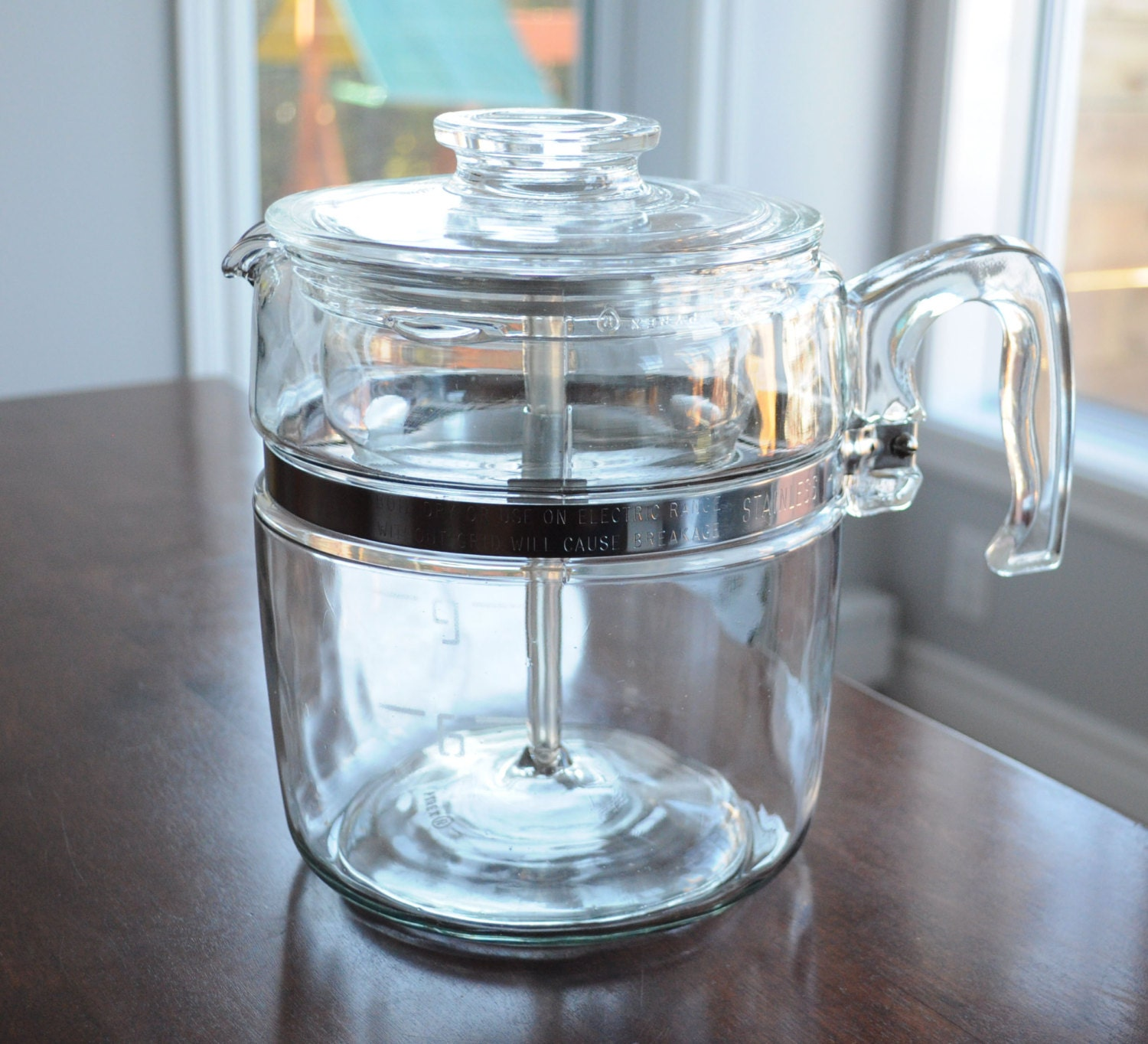 Pyrex Coffee Maker How To Use : Vintage Pyrex Percolator Coffee Pot 9 cup 7759 B Vintage