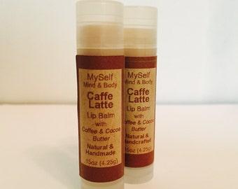 Coffee Lip Balm, Coffee Bean Oil, Cocoa Butter, Coffee scent, chapstick