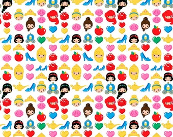Disney Princess Emoji Fabric