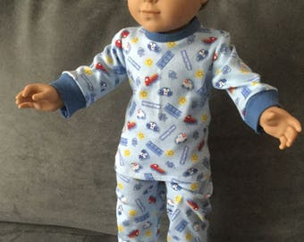 Pajamas for 18 inch boy doll