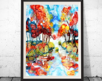 Colorful painting, colorful art, colorful wall art, abstract colorful, large colorful art, modern art deco, art deco print, modern art