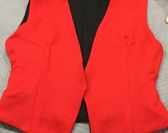 Reversible Vest Ladies M (Red/Black)