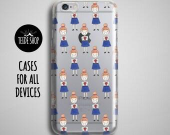 Schoolgirl Clear iPhone 7 Case School iPhone 6S Plus Case Clear iPhone 7 Plus Case iPhone 6S Case iPhone SE Case iPhone 6 Case iPhone Case