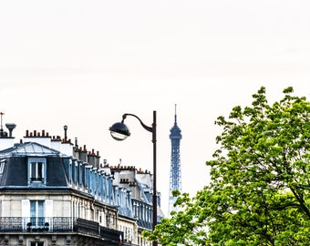 Eiffel Tower Photography - Paris Rooftops - Paris Photography - Wall Art Print - Paris Decor - Fine Art Photography  - Tour Eiffel - 0030