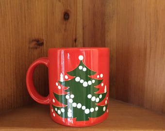 Waechtersbach Christmas Tree Mug | Red