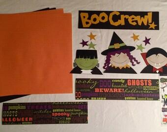 Boo Crew Halloween Scrapbooking Kit