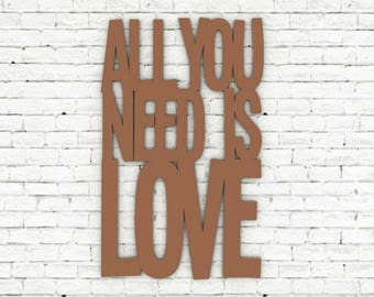 Quote 3D - All you need is love