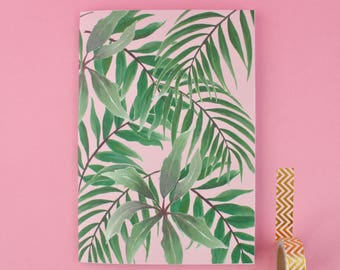 Pink Tropical Paradise A5 Notebook
