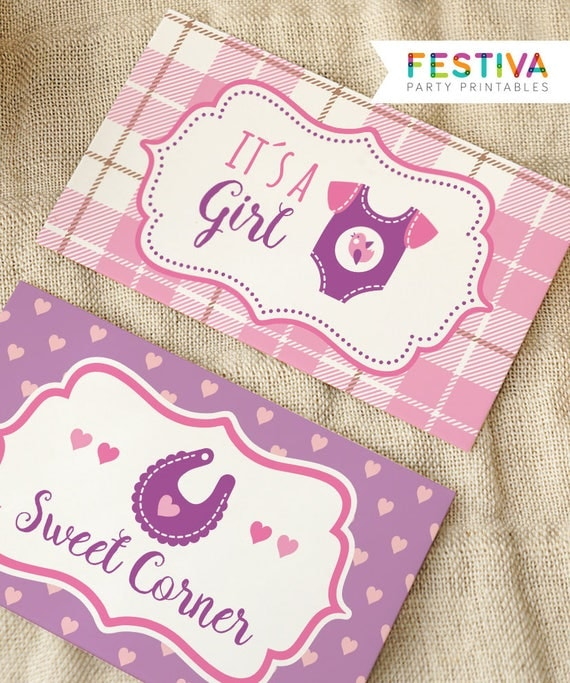 Il_570xn  sc 1 st  Catch My Party & Shower Table Sign / Table Tent / Shower Tent / Shower Card / Pink ...