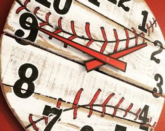 Pallet Wood Baseball Clock