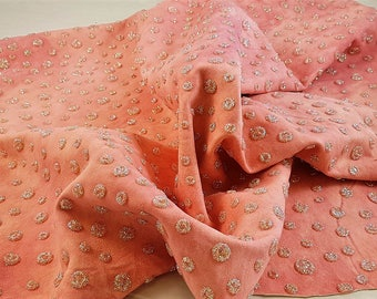 Leather hide with glitter polka dots completely handmade. A210