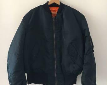 Alpha Industries Bomber Jacket Vintage 90s Skinhead Style