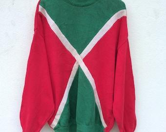 Vintage Cacharel Paris Knitwear / Vintage Sweater / Knit Sweatshirt