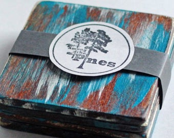 Distressed Wood Coasters