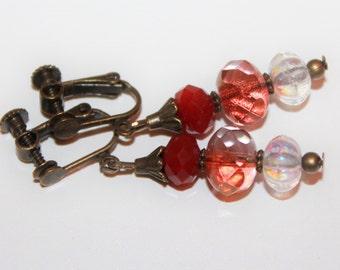 Clip earrings with screw cap
