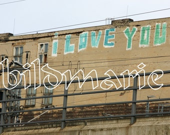 Berlin, I love you, love, Grafitty photo-color paper 17 x 12.5 cm, size: 6.7 x 4.9 inches, photo paper, kind of (c) picture Marie