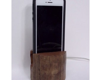 Driftwood IPhone Docking Stand • IPhone Dock • IPhone Stand • Phone Dock • Phone Stand • Wood Phone Stand