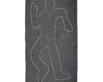 Crime Scene Chalk Outline Body All Over Beach Towel