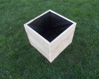Large Wooden Planter/ Square planter/Window Box / Flower Planter / Herb Planter