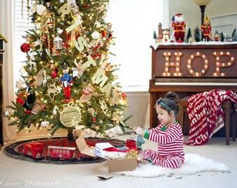 READY TO SHIP, Custom christmas pajamas, christmas pajamas for children, christmas pj's, christmas eve boxes, holiday pajamas