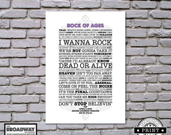 Rock Of Ages - Unframed - Quotes - Lyrics - Typography Print