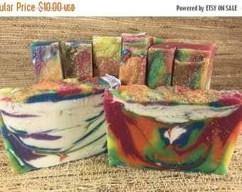 40% OFF CLEARANCE SALE Charity Product- Lavender Peppermint Pride Soap-Lgbtq-Handmade-Rainbow Soap